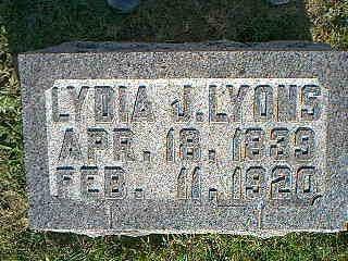 LYONS, LYDIA - Fremont County, Iowa   LYDIA LYONS