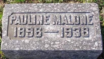 BARRETT MALONE, PAULINE HELEN - Fremont County, Iowa   PAULINE HELEN BARRETT MALONE