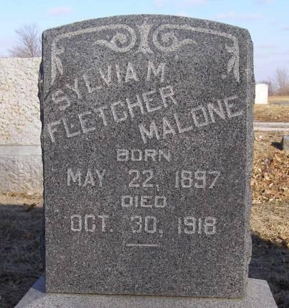 FLETCHER MALONE, SYLVIA M - Fremont County, Iowa | SYLVIA M FLETCHER MALONE