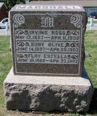 MARSHALL, RUBY OLIVE - Fremont County, Iowa   RUBY OLIVE MARSHALL