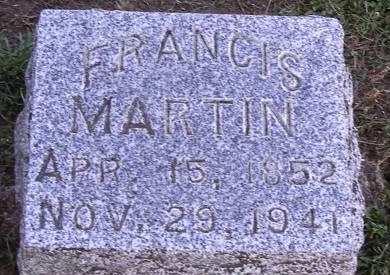MARTIN, FRANCIS - Fremont County, Iowa   FRANCIS MARTIN