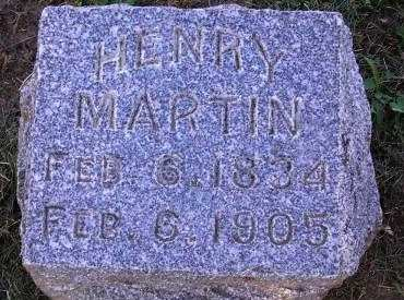 MARTIN, HENRY - Fremont County, Iowa   HENRY MARTIN
