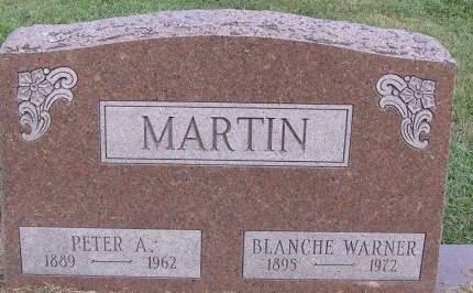 WARNER MARTIN, BLANCHE - Fremont County, Iowa | BLANCHE WARNER MARTIN