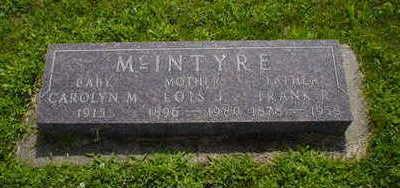 MCINTYRE, FRANK - Fremont County, Iowa   FRANK MCINTYRE