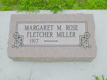 FLETCHER MILLER, MARGARET M. ROSE - Fremont County, Iowa   MARGARET M. ROSE FLETCHER MILLER