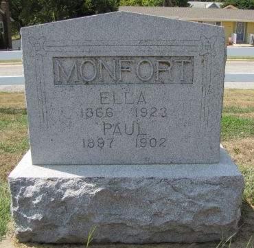 MONFORT, ELLA - Fremont County, Iowa   ELLA MONFORT