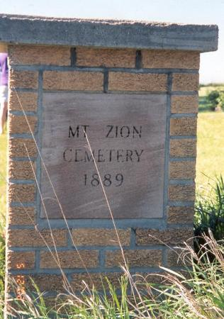 MT. ZION (GREEN TWP), CEMETERY - Fremont County, Iowa | CEMETERY MT. ZION (GREEN TWP)