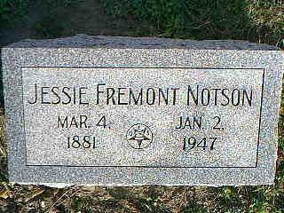 NOTSON, JESSIE FREMONT - Fremont County, Iowa | JESSIE FREMONT NOTSON
