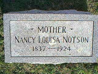NOTSON, NANCY LOUISA - Fremont County, Iowa | NANCY LOUISA NOTSON