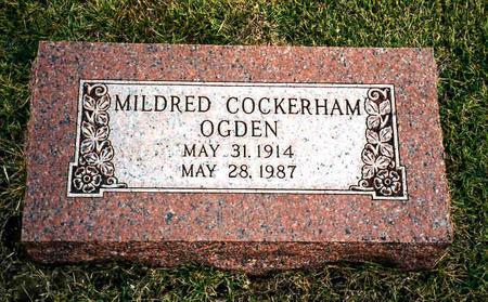 COCKERHAM OGDEN, MILDRED - Fremont County, Iowa | MILDRED COCKERHAM OGDEN