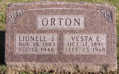 ORTON, VESTA E - Fremont County, Iowa   VESTA E ORTON