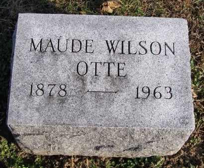 WILSON OTTE, MAUDE - Fremont County, Iowa   MAUDE WILSON OTTE