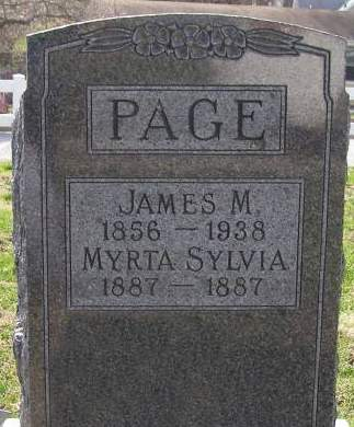 PAGE, MYRTA SYLVIA - Fremont County, Iowa | MYRTA SYLVIA PAGE