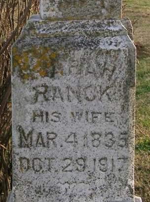 RANCK PAGE, SARAH - Fremont County, Iowa   SARAH RANCK PAGE
