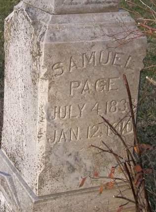 PAGE, SAMUEL - Fremont County, Iowa | SAMUEL PAGE