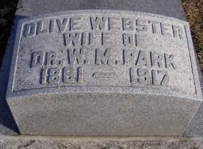 WEBSTER PARK, OLIVE - Fremont County, Iowa | OLIVE WEBSTER PARK