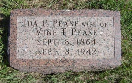 PEASE, IDA F. - Fremont County, Iowa | IDA F. PEASE
