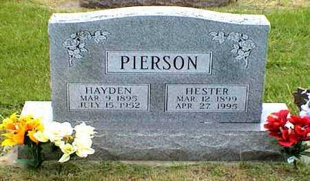 JORDAN PIERSON, HESTER - Fremont County, Iowa | HESTER JORDAN PIERSON