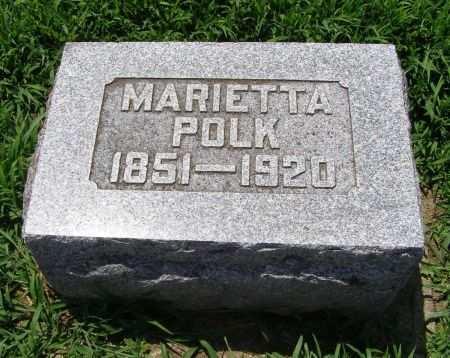 MCCAIN POLK, MARIETTA - Fremont County, Iowa | MARIETTA MCCAIN POLK