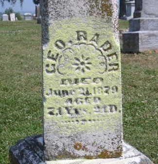 RADER, GEORGE - Fremont County, Iowa | GEORGE RADER