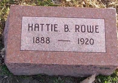 HARDY ROWE, HATTIE BLANCHE - Fremont County, Iowa   HATTIE BLANCHE HARDY ROWE
