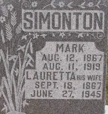 JORDAN SIMONTON, LAURETTA - Fremont County, Iowa | LAURETTA JORDAN SIMONTON