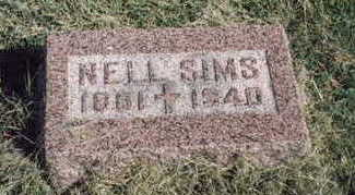 SIMS, NELL - Fremont County, Iowa | NELL SIMS
