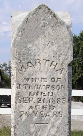 THOMPSON, MARTHA - Fremont County, Iowa   MARTHA THOMPSON