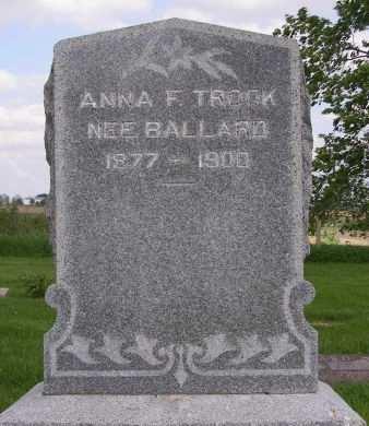 BALLARD TROOK, ANNA F - Fremont County, Iowa | ANNA F BALLARD TROOK