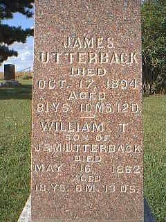 UTTERBACK, JAMES - Fremont County, Iowa | JAMES UTTERBACK