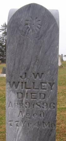 WILLEY, J W - Fremont County, Iowa   J W WILLEY