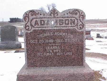 ADAMSON, THOMAS - Greene County, Iowa | THOMAS ADAMSON