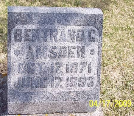 AMSDEN, BERTRAND G - Greene County, Iowa | BERTRAND G AMSDEN