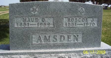 AMSDEN, MAUD O - Greene County, Iowa | MAUD O AMSDEN