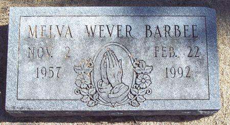 WEVER BARBEE, MELVA GRACE - Greene County, Iowa | MELVA GRACE WEVER BARBEE