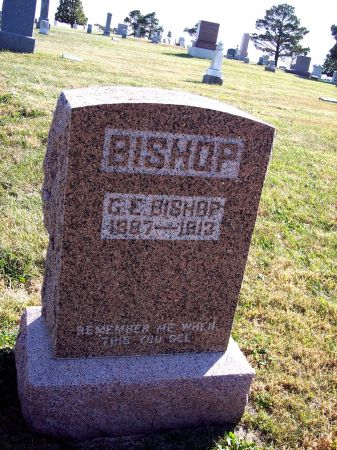 BISHOP, G EDWARD - Greene County, Iowa | G EDWARD BISHOP