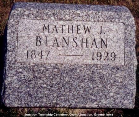 BLANSHAN, MATHEW J. - Greene County, Iowa   MATHEW J. BLANSHAN