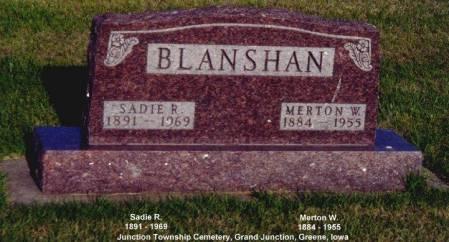 BLANSHAN, SADIE R. - Greene County, Iowa | SADIE R. BLANSHAN
