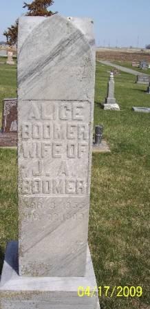 BOOMER, ALICE - Greene County, Iowa | ALICE BOOMER