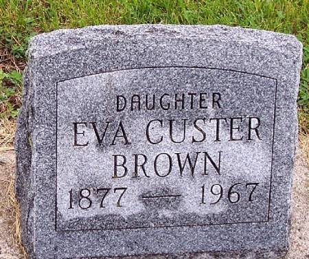CUSTER BROWN, EVA M - Greene County, Iowa | EVA M CUSTER BROWN