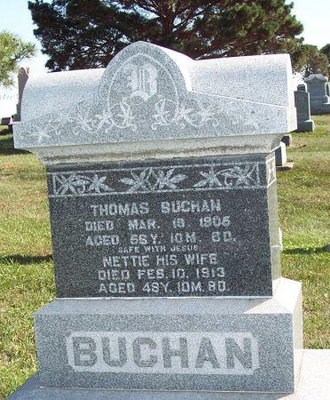 BUCHAN, NETTIE - Greene County, Iowa | NETTIE BUCHAN