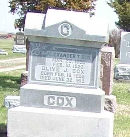 COX, OLIVE J - Greene County, Iowa | OLIVE J COX