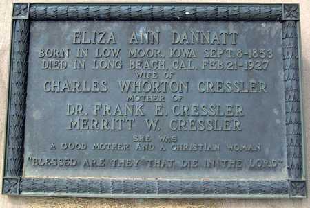 CRESSLER, ELIZA ANN - Greene County, Iowa   ELIZA ANN CRESSLER