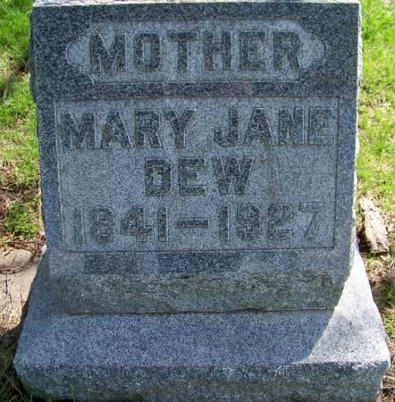 AULD DEW, MARY JANE - Greene County, Iowa   MARY JANE AULD DEW