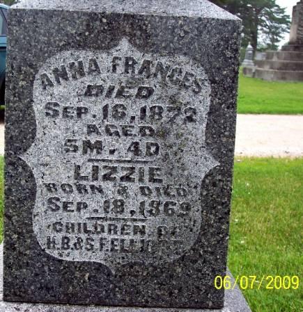 ELLIIOTT, ANNA FRANCIS - Greene County, Iowa   ANNA FRANCIS ELLIIOTT