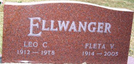 ELLWANGER, FLETA V - Greene County, Iowa | FLETA V ELLWANGER