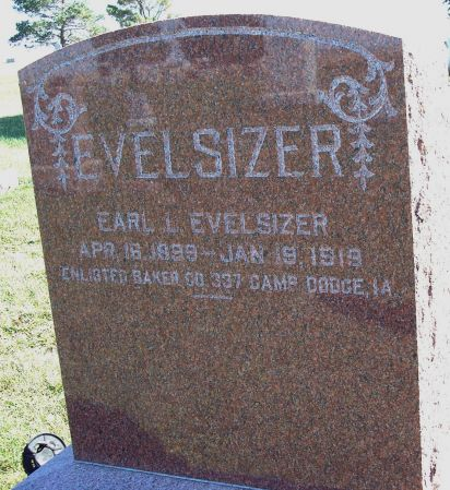 EVELSIZER, EARL LAWRENCE - Greene County, Iowa   EARL LAWRENCE EVELSIZER