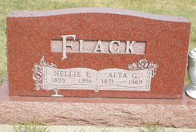 FLACK, NELLIE ELIZABETH - Greene County, Iowa   NELLIE ELIZABETH FLACK