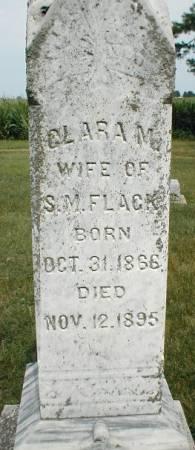 FLACK, CLARA M. - Greene County, Iowa   CLARA M. FLACK