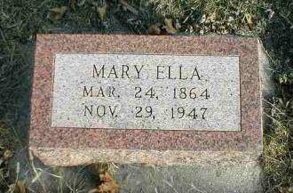FLACK, MARY ELLA - Greene County, Iowa | MARY ELLA FLACK